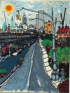 "Lithograph ""West Street"" after Edward Sokol"