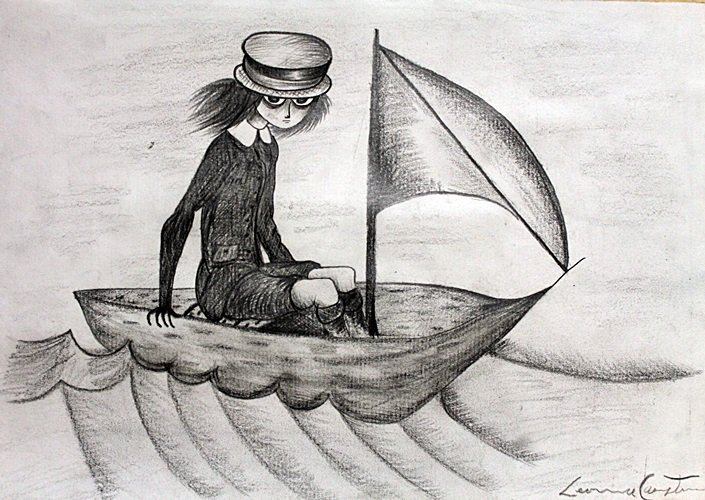Boy in the Sea - Drawing on Paper - Leonora Carrington