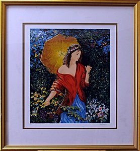 """Serigraph """"After The Rain"""" after Semeko"""