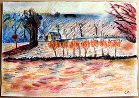 Bath road, Chiswick - Pastel on Paper - Camille