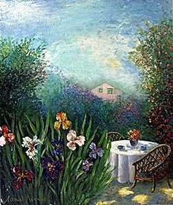 """Giclee """"Garden of Happiness"""" after Alain Bonnec"""