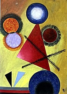 Composition No 11 - Oil Painting on Paper - Wassily