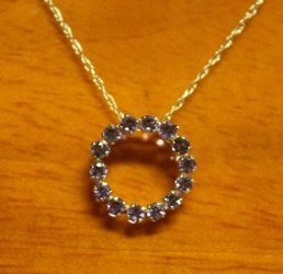Beautiful 14kt Gold Pendant with Tanzanite