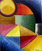 """Composition No 22"" Oil Painting - Robert Delaunay"