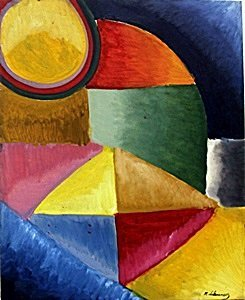 """""""Composition No 22"""" Oil Painting - Robert Delaunay"""