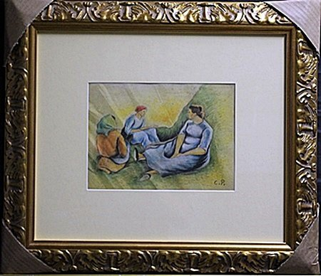 Mixed Media Original On Paper By Camille Pissaro