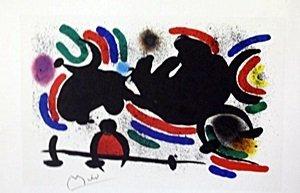 "Lithograph ""Shadows"" by Joan Miro"