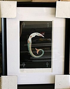 """Framed Lithograph """"Letter G"""" by Erte"""