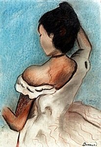 The Lady - Pastel Drawing on Paper - Pierre Bonnard