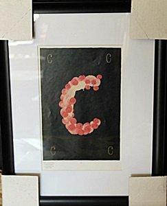 """Framed Lithograph """"Letter C"""" by Erte"""