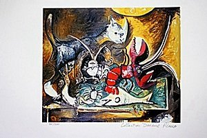 Picasso Limited Edition - Stil Life With Cat - from