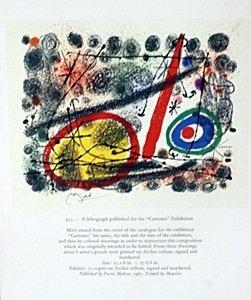 "Lithograph ""Cartones"" by Joan Miro"
