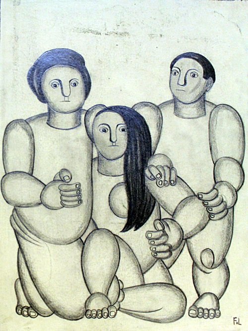 The Family 1945' - Drawing on Paper - F. Leger