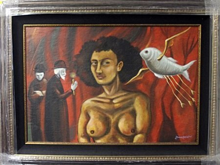 Original Oil Painting on Canvas by Leonora Carrington