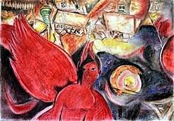 The Devil - Pastel Drawing on Paper - Marc Chagall
