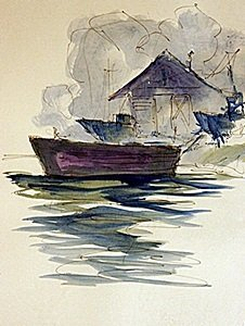 Original Water Color on Paper By Michael Schofield