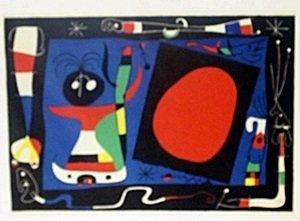 """Print """"Woman at the Miror"""" by Joan Miro"""