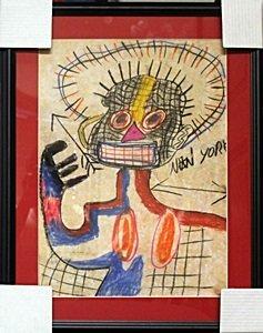 Pastel Drawing on Paper - Jean Michel - Basquiat