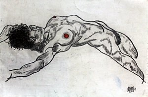 Graphite Drawing on Paper - Egon Schiele 1910