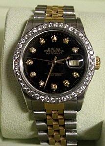 18K DiamondDial DateJust Rolex Watch