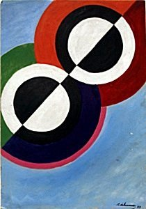 Rythme No 7 - Oil Painting on Paper - Robert Delaunay