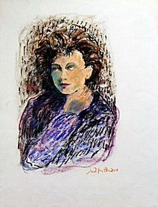 Troy 31 Arthur - Original Painting on Paper by Judith