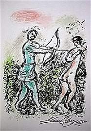 "Lithograph ""Ulysses' Bow"" by Chagall from the Odyssey"