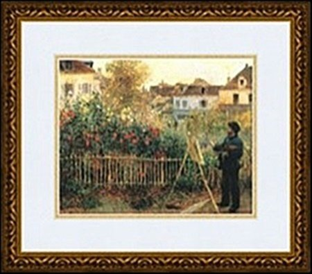 MONET PAINTING IN THE GARDEN AT ARGENTEUIL, 1873 BY