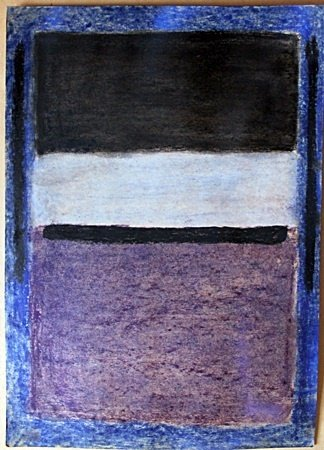 Pastel Painting on Paper by Mark Rothko