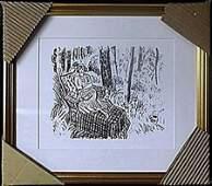 Framed Lithograph After Henri Matisse