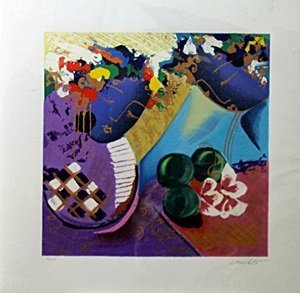"""Serigraph """"Whispers"""" after Lee White"""