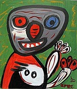 Oil Painting On Paper - Karel Appel