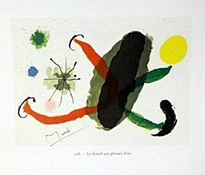"Print ""Le Lezard Aux Plumes D'or"" by Joan Miro"