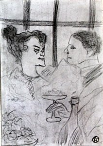 Untitled - Graphite Drawing - Henri Toulouse Lautrec