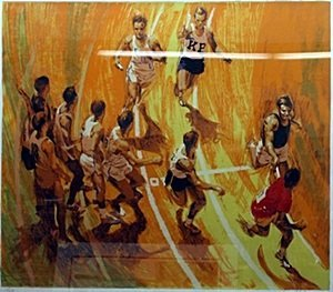 """Lithograph """"Relay"""" after Harry Scharre"""