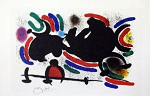 "Lithograph ""Shadows"" by Joan Miro"