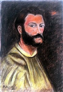 Self Portrait - Pastel Drawing - Frederic Bazille