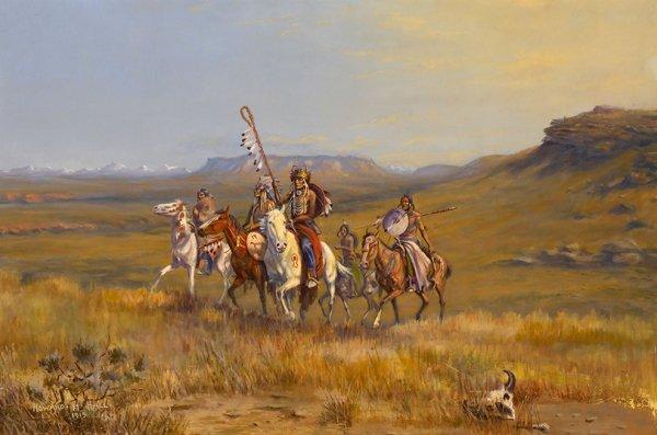 136: hall howard hill painting american art