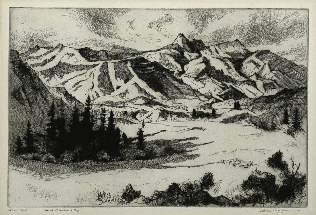 Gene Kloss, Rocky Mountain Valley, 1963, A/P