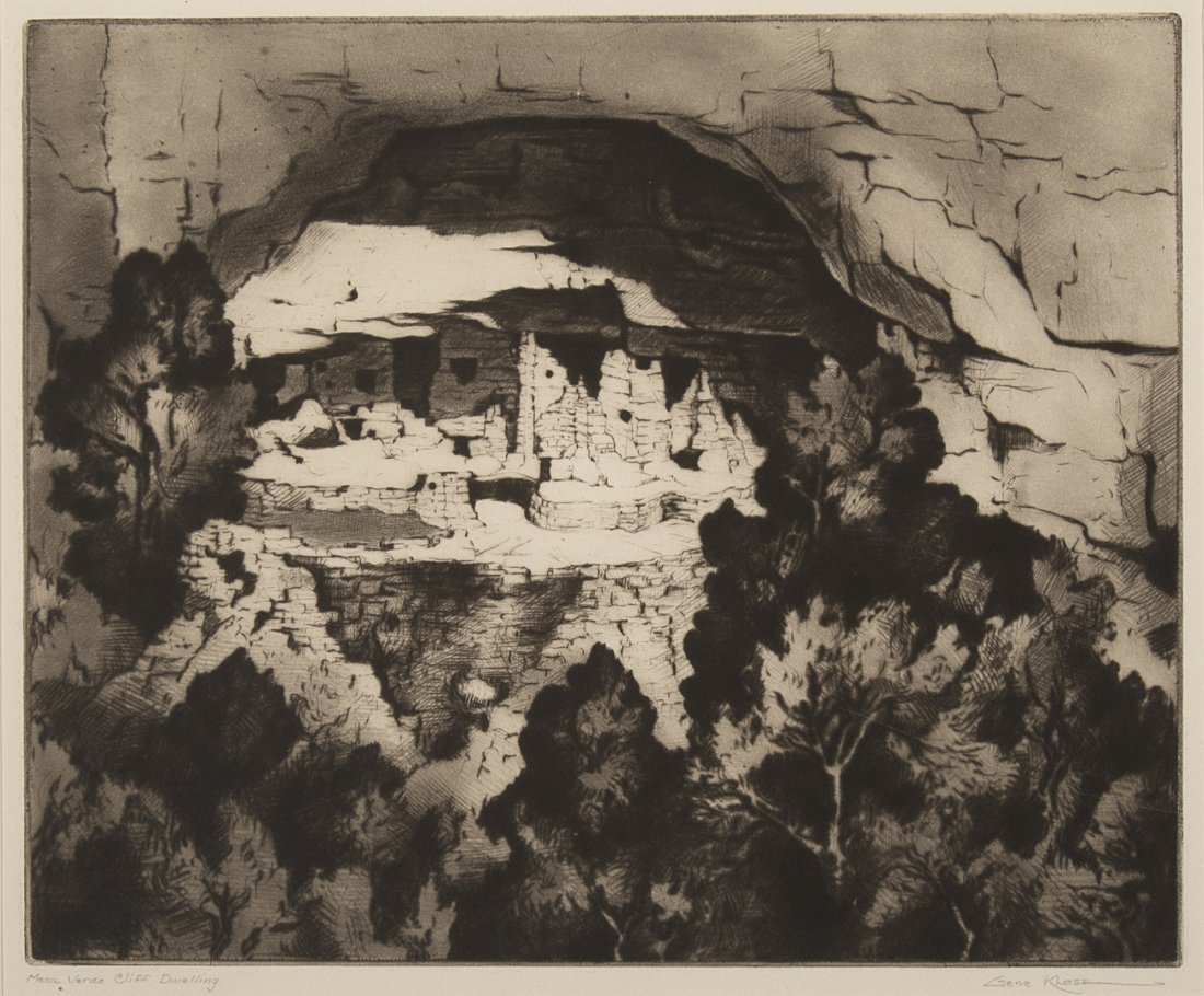 Gene Kloss, Mesa Verde Cliff Dwelling, 1947
