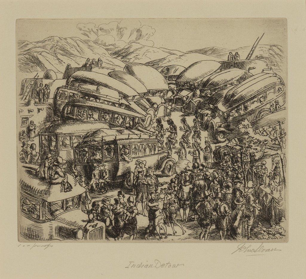 John Sloan, Indian Detour, 1927