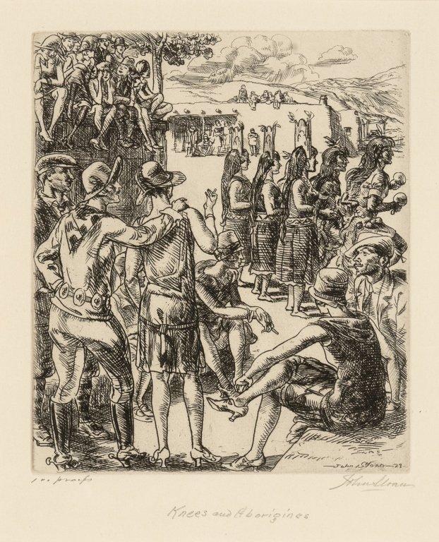 John Sloan, Knees and Aborigines, 1927