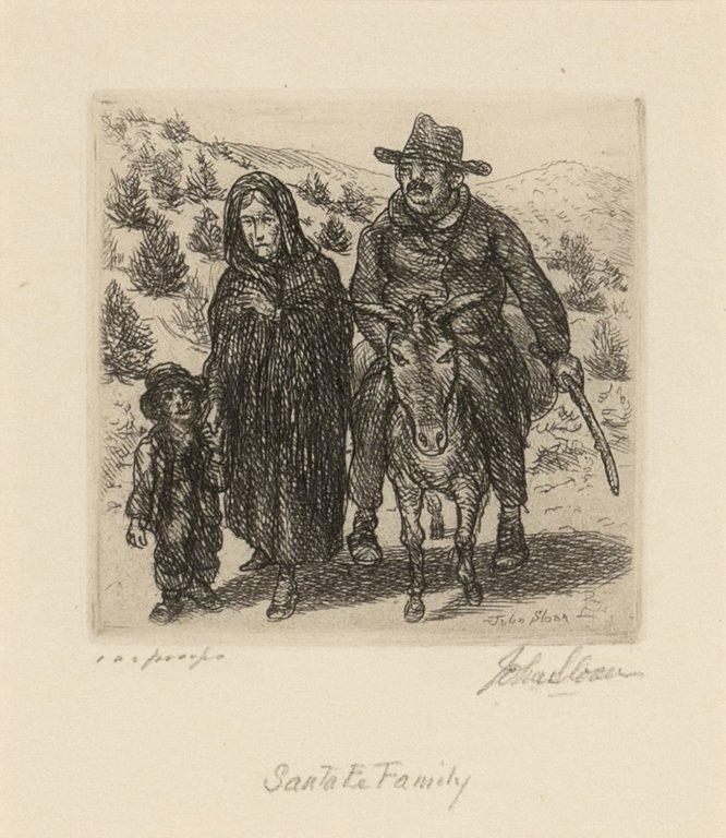 John Sloan, Santa Fe Family, 1937
