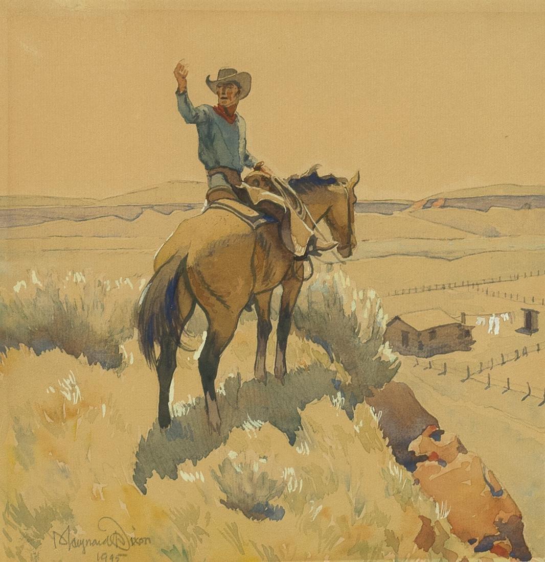 Maynard Dixon, Untitled (Cowboy on Horseback)
