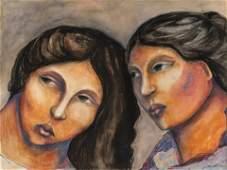 Miguel Martinez, Portrait of Two Women