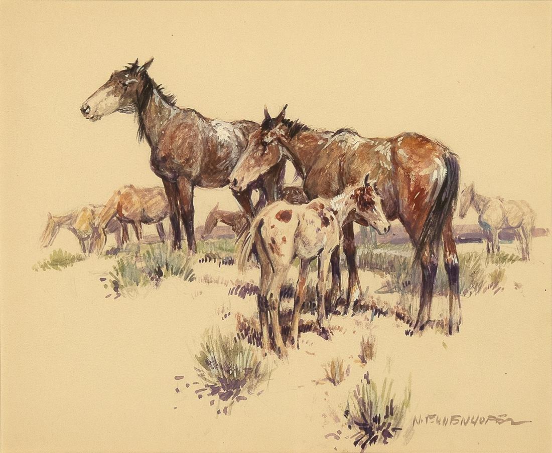 Nick Eggenhoffer, Untitled (Study of Horses)