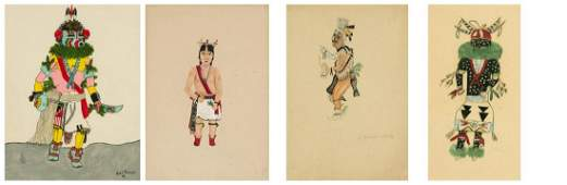 American Indian Four Works on Paper