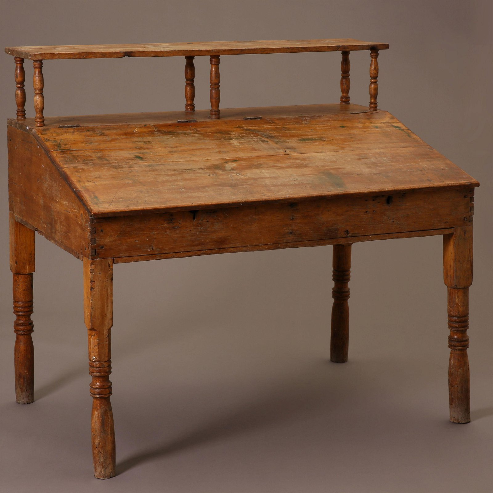 American, Printers Desk with Sloping Front