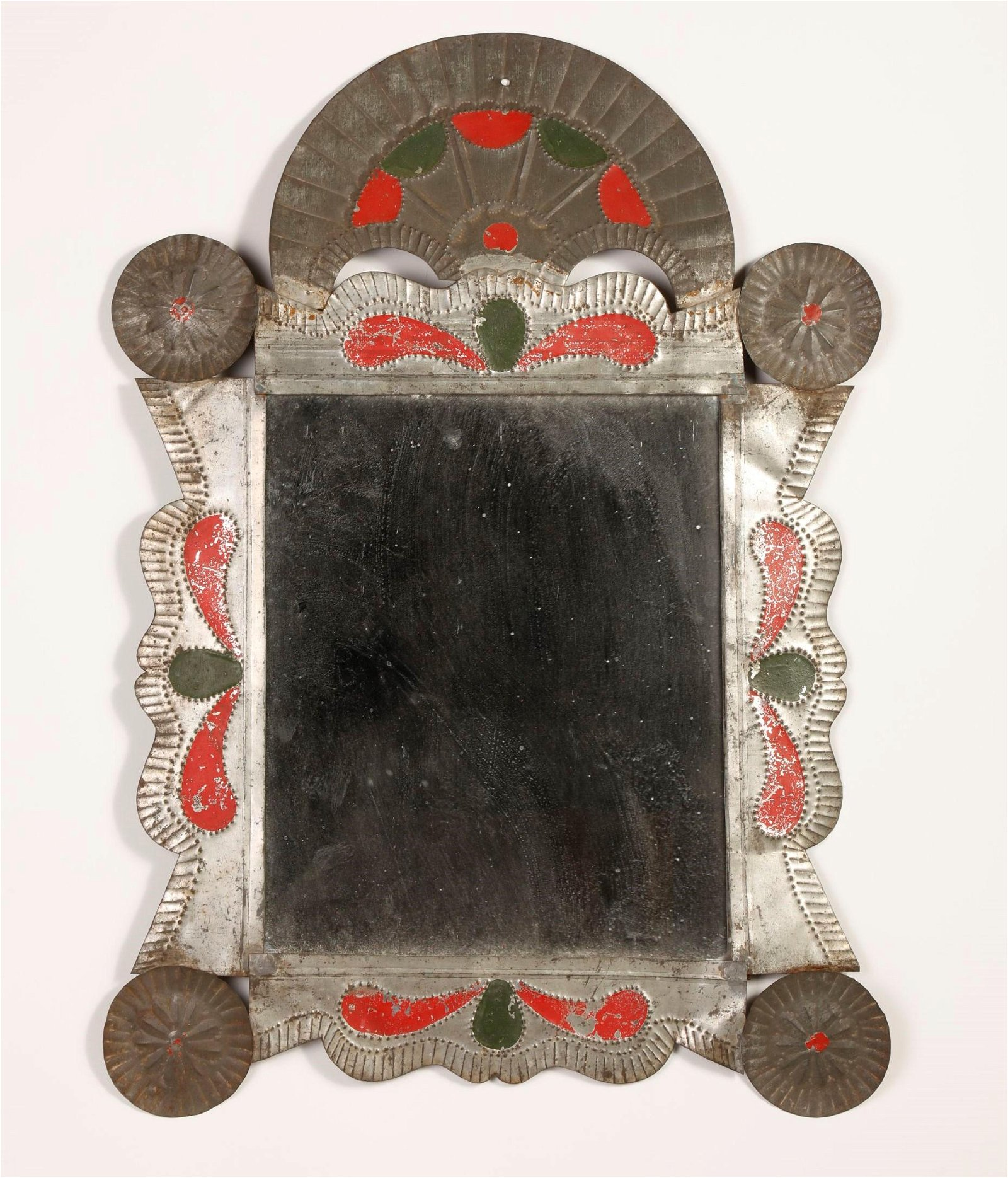 New Mexico, Tin Frame with Mirror, ca. 1870