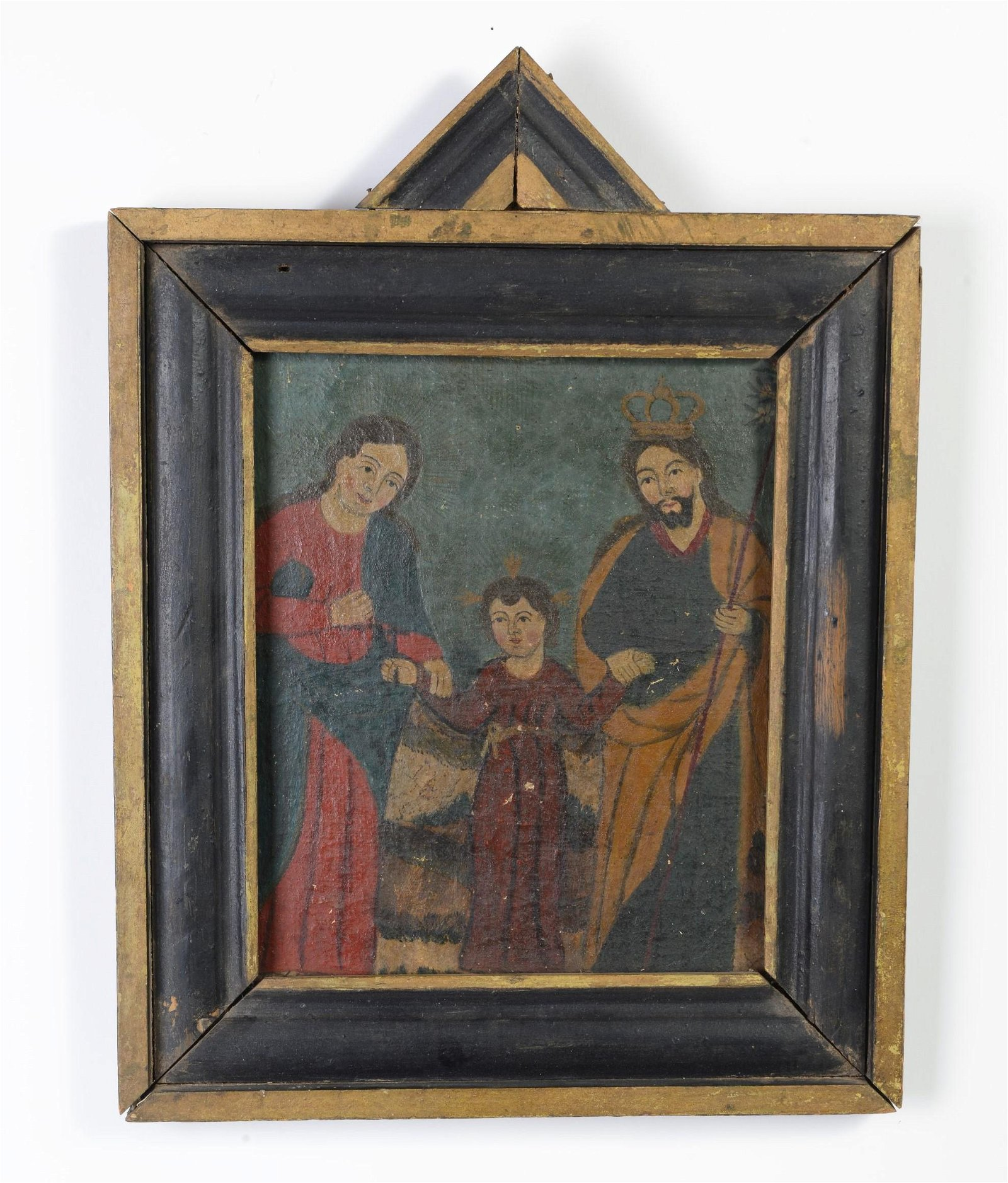 Retablo in Frame: The Holy Family, 19th Century